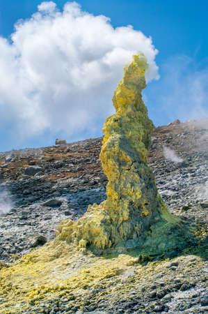kuril: Ebeko  Volcano, Paramushir Island, Kuril Islands, Russia