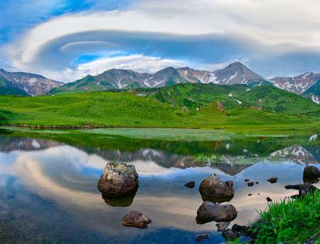 kuril: Mountain landscape. Paramushir Island, Kuril Islands, Russia