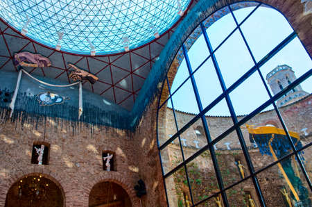 catalunia: FIGUERES, SPAIN - JULY 26: The Dali Theatre and Museum on July 26, 2014 in Figueres, Catalunia, Spain. The museum displays the largest and most diverse collection of works by Salvador Dali. Editorial