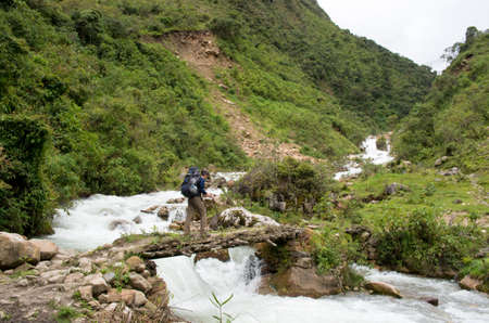 salkantay: trekking in mountains, Salkantay Trekking, Peru, South America