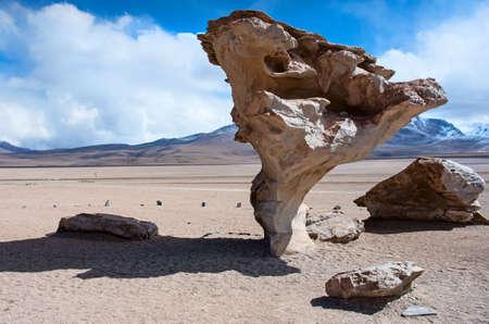 arbol: Formaci�n de roca (Arbol de Piedra) en Uyuni, Bolivia