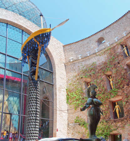 salvador dali: FIGUERES, SPAIN - JULY 26: The Dali Theatre and Museum on July 26, 2014 in Figueres, Catalunia, Spain. The museum displays the largest and most diverse collection of works by Salvador Dali. Editorial