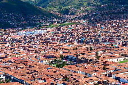 cusco: Cityscape of Cusco in Peru Stock Photo