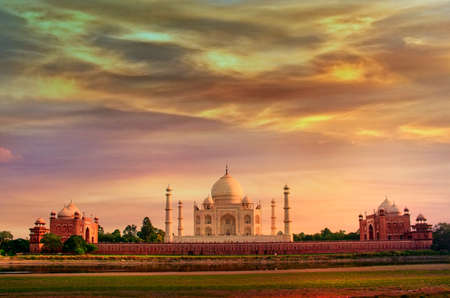 Taj Mahal in Agra, Uttar Pradesh, India Archivio Fotografico