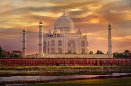 Taj Mahal in Agra, Uttar Pradesh, India 報道画像