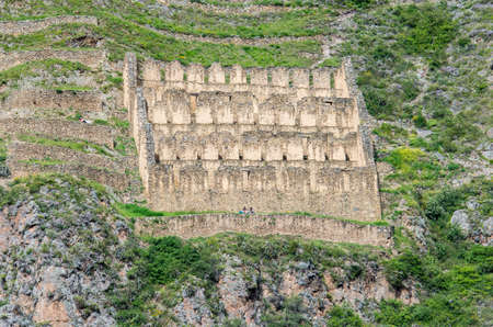 pisaq: Ollantaytambo - old Inca in the Sacred Valley in  Andes, Cusco, Peru