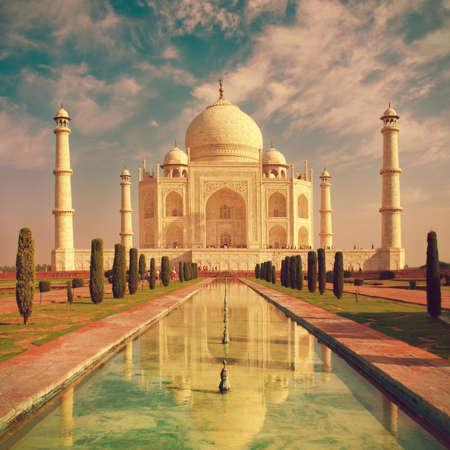 uttar: Taj Mahal in Agra, Uttar Pradesh, India Stock Photo