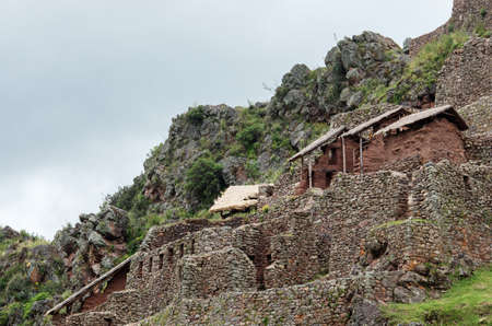 inca ruins: Pisac - Inca ruins in the sacred valley in the Peruvian Andes, Peru