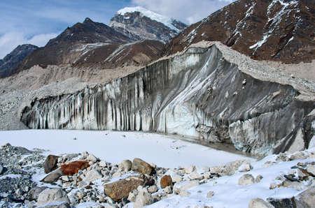rappel: Ngozumba Glacier, Sagarmatha National Park, Nepal, Himalayas