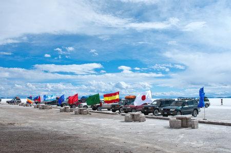 incahuasi: Incahuasi island in Salar de Uyuni, Bolivia Editorial