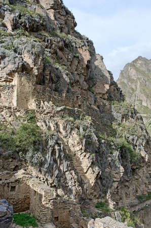 pisaq: Ollantaytambo - old Inca fortress in the Sacred Valley in  Andes, Cusco, Peru Editorial