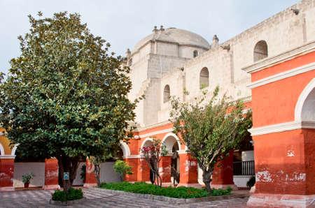 catholic nuns: The Monastery of  Santa Catalina (Saint Catherine) in Arequipa, Peru