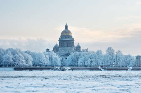 isaac: St Isaac Cathedral in Saint Petersburg, Russia. Winter