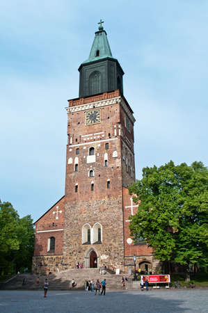turku: TURKU, FINLAND-JUNE 30, 2013: Turku Cathedral is the Mother Church of the Evangelical Lutheran Church of Finland.