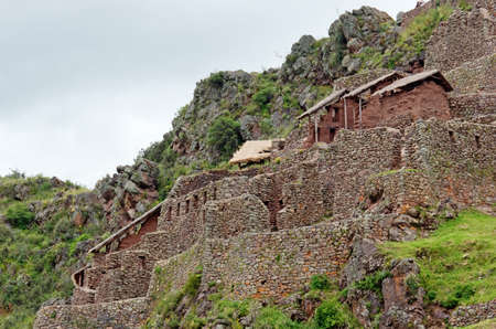 pisac: Pisac - Inca ruins in the sacred valley in the Peruvian Andes, Peru
