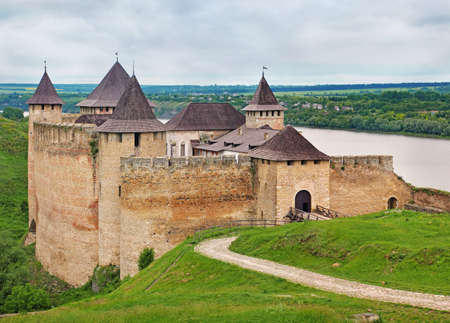 seventh: View of old Khotyn Fortress. Ukraine