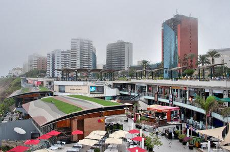 LIMA, PERU - APRIL 21, 2015: View of Miraflores district in Lima, Peru.