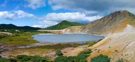 kuril: Lake Boiling   volcano Golovnina. Island Kunashir, Kurily, Russia