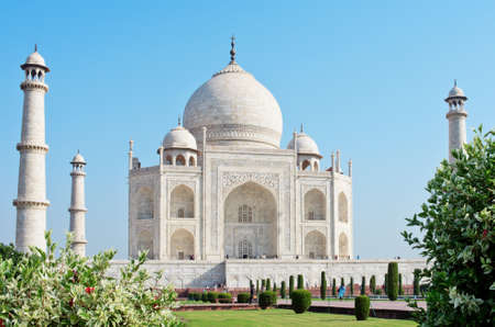 pradesh: Taj Mahal in Agra, Uttar Pradesh, India Stock Photo