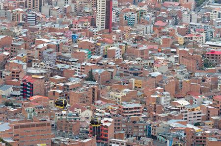 la paz: LA PAZ, BOLIVIA - APR 05, 2015: Cityscape of La Paz in Bolivia Editorial