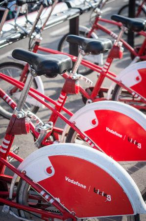 bike parking: BARCELONA, SPAIN - MARCH 03, 2015: Bike parking in Barcelona, Spain.