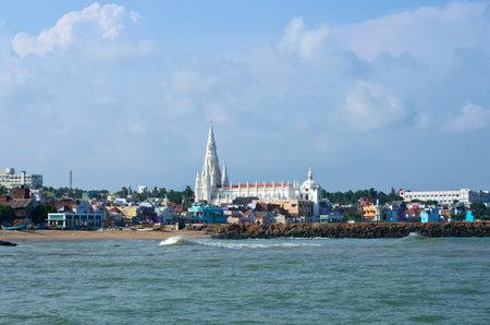Kanyakumari - 14. Oktober 2014: Blick auf die Stadt. Früher als Cape Comorin bekannt ist, in Indien eine Stadt in Kanyakumari im Bundesstaat Tamil Nadu.
