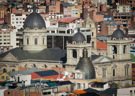 la paz: Cityscape of La Paz in Bolivia Stock Photo