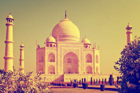 uttar: Taj Mahal in Agra, Uttar Pradesh, India Editorial