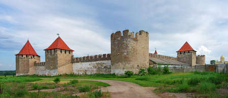 Old fortress on the river Dniester in town Bender, Transnistria. City within the borders of Moldova under of the control unrecognized Transnistria Republic Editorial