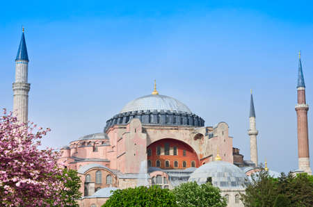 constantinople ancient: View of Hagia Sofia or Ayasofya in Istanbul, Turkey Editorial