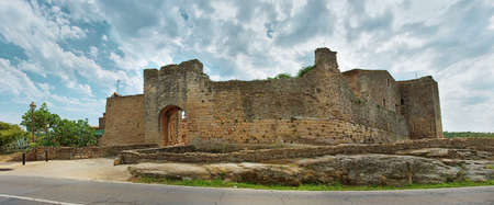 passageway: Medieval town Peratallada in Catalonia, Spain Stock Photo