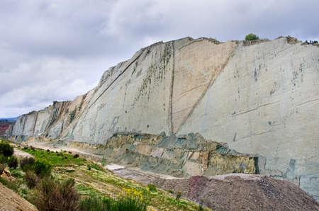cal: Dinosaur Tracks on the Wall of  Cal Orko, Sucre, Bolivia