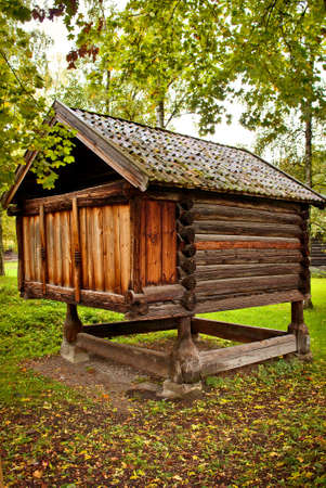 cultural history: Traditional Norwegian House with grass roof. The Norwegian Museum of Cultural History, Oslo.