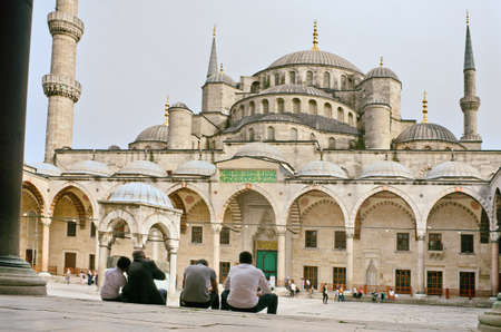 ISTANBUL - APR 23, 2016: Sultan Ahmed Mosque known as the Blue Mosque , in Istanbul. Turkey