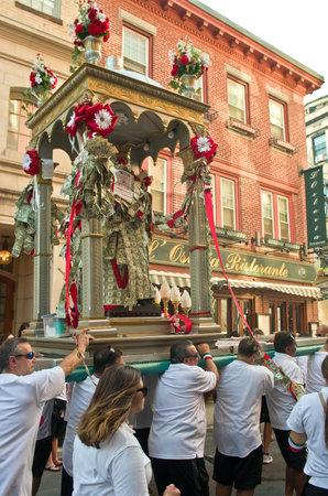 feast: Boston, Massachusetts, USA, August 07, 2016: Feast in honor of Saint Agrippina in Boston, Usa