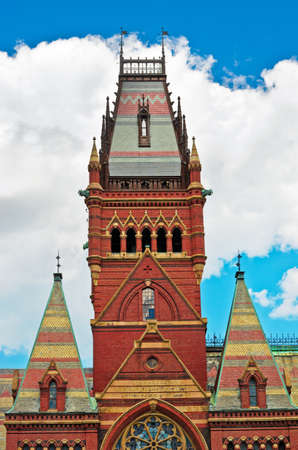 harvard university: Cambridge, Massachusetts, USA, August 7, 2016: Memorial Hall in Harvard University in Cambridge, Massachusetts, USA.