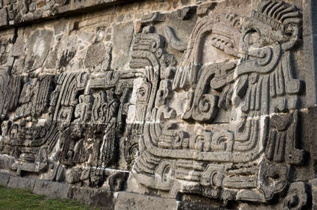 morelos: Temple of the Feathered Serpent in Xochicalco. Mexico.
