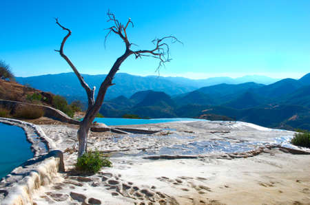 Hierve el Agua, thermal spring in the Central Valleys of Oaxaca, Mexico