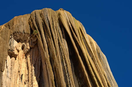Petrified waterfalls, Hierve El Agua in the Central Valleys of Oaxaca, Mexico