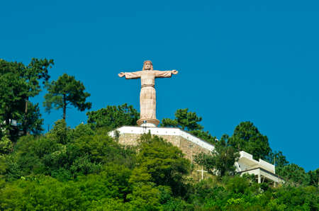 Monumental Christ at Atachi Hills, Taxco, Mexico Stock Photo