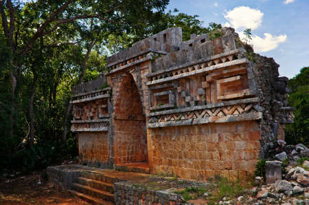 Labna a Mesoamerican archaeological site and ceremonial center of the pre-Columbian Maya civilization,  Yucatan Peninsula, Mexico. Editorial