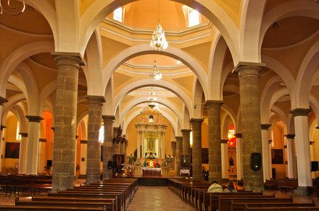 indios: Cholula, Mexico - November 27, 2016: Interior of Royal Chapel in Cholula (la capilla real de cholula), Puebla, Mexico