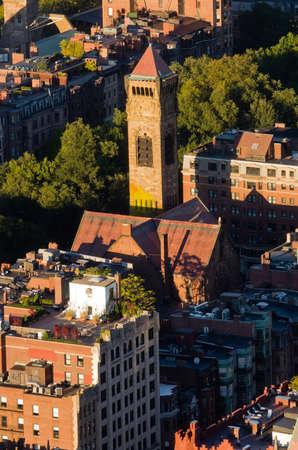 Top view of Boston, Massachusetts, USA Stock Photo