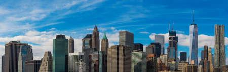 New York City Manhattan skyline panorama.