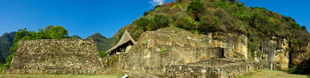 Ruins in Malinalco. Archaeological site in Mexico. Stock Photo