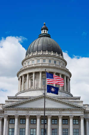 Utah State Capitol is the house of government for the U.S. state of Utah. USA Stock Photo