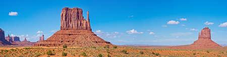 Desert Landscape in Monument Valley, Monument Valley Navajo Tribal Park. USA Stock Photo
