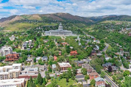 ユタ州議会議事堂は、ユタ州の米国の状態のための政府の家です。アメリカ 写真素材