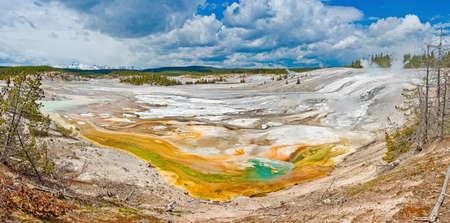 Porcelain Basin in Yellowstone national park. USA.
