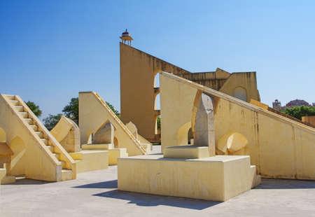 Ancient  astronomical observatory Jantar Mantar  in Jaipur, Rajasthan, India Stock Photo